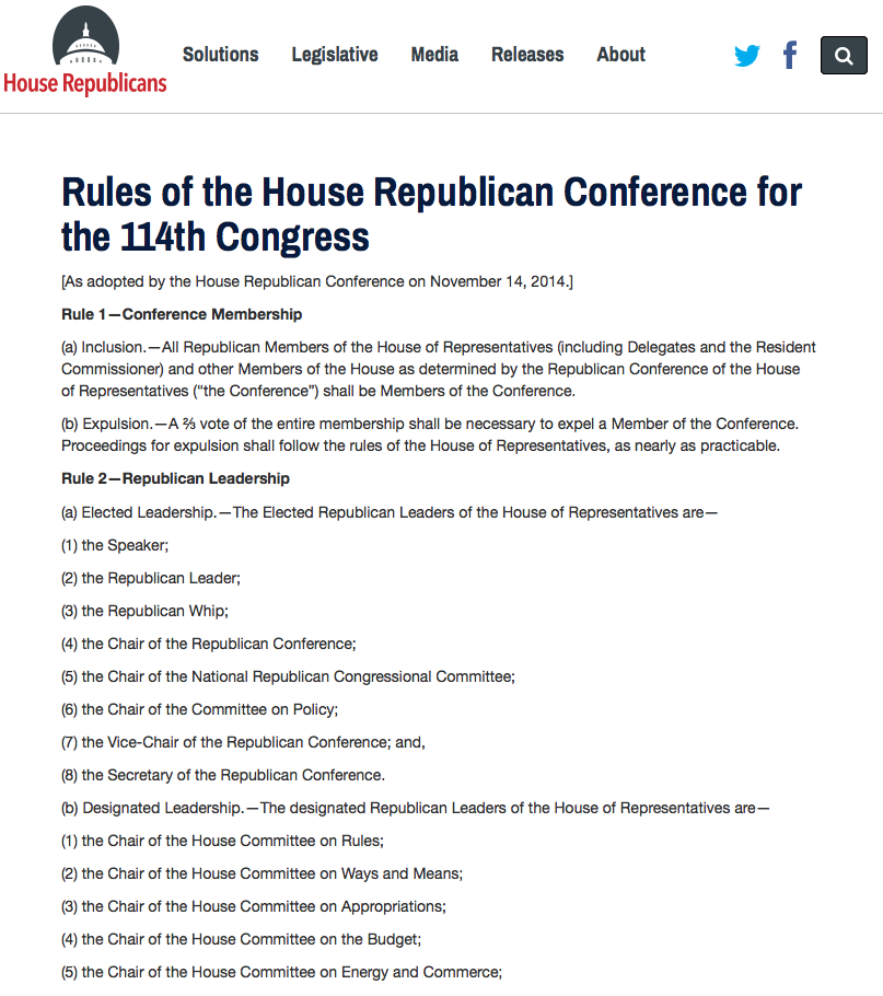 Republicans For Change >> How Do Party Rules Change Congress–And History?